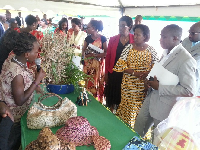 Niyitegeka during a trade show in Ngoma district, Eastern province