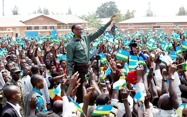 President Paul Kagame meeting residents of Rusizi district at Mushaka Parish grounds