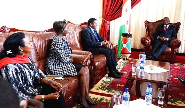 Foreign Ministers of East Africa Member states meeting President Pierre Nkurunziza in Bujumbura.