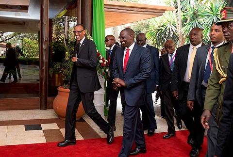 President Paul Kagame at the 11th Northern Corridor Integration Projects Summit held in Kenya's Capital Nairobi, 17 October 2015