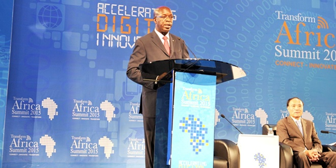 Rwanda's Prime Minister Anastase Murekezi officially opening the summit on October 19, 2015 at Serena Hotel in the capital Kigali.