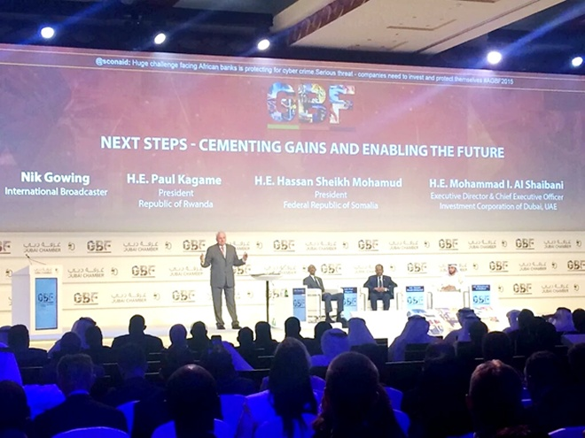 President Paul Kagame at the 3rd  Africa Global Business Forum in Dubai, United Arab Emirates (photo/twitter)