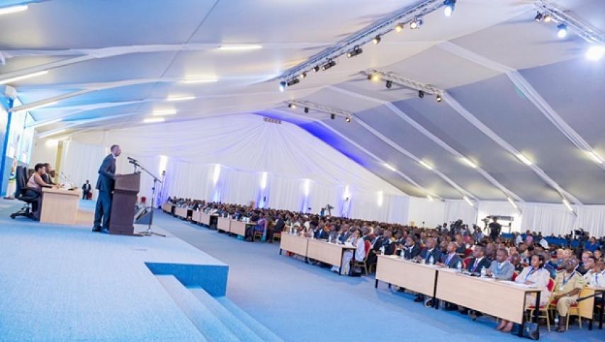President Paul Kagame addressing participants at the national dialogue Umushikirano