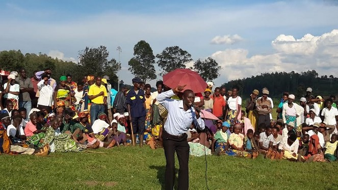 Scenes like these are taking place across Rwanda for an entire week as the YES campaign visits all villages of the country