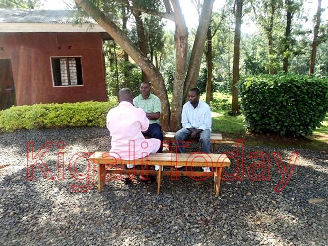Egide Rwasibo (in t-shirt) in March 2015 during a visit in Rwanda