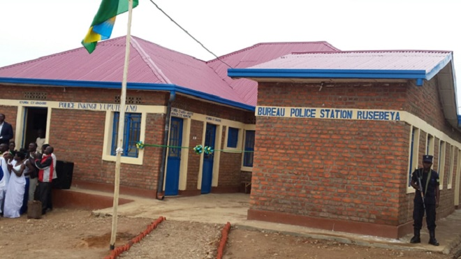 Local community builds police station in rural Rwanda