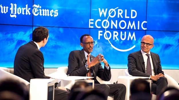 President Paul Kagame at the Davos World Economic Forum