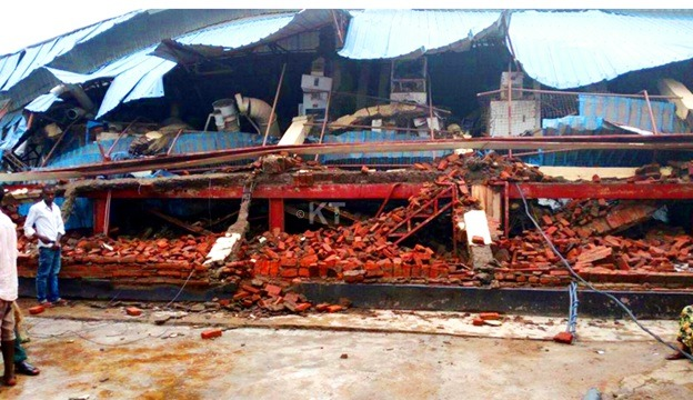 Bugarama rice factory destroyed by rain