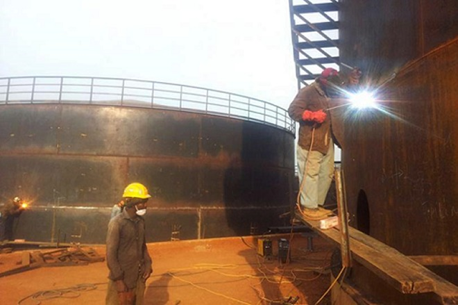 Construction of 21 million cubic meters fuel reserves in Rusororo sector, Gasabo district