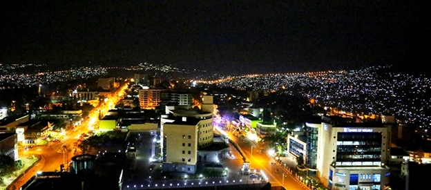 A view of Kigali city at night/ F.Nkurunziza