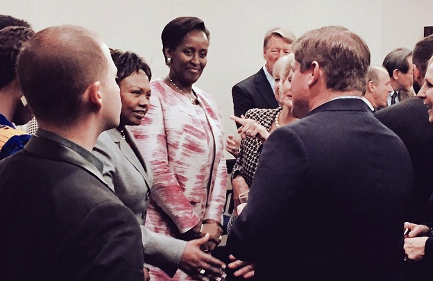Rwanda's First Lady in U.S. at the Florida Reception for National Prayer Breakfast in Washington, DC., she spoke on reconciliation