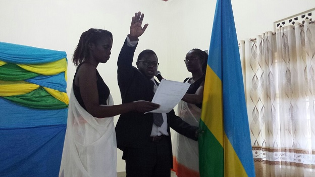 Nyaruguru Mayor, Francois Habitegeko swore immediately after elections