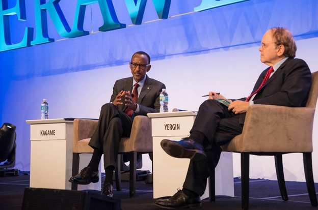 President Kagame during a one-on-one dialogue with Yergin