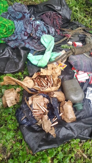 Some of the supplies the combatants had carried