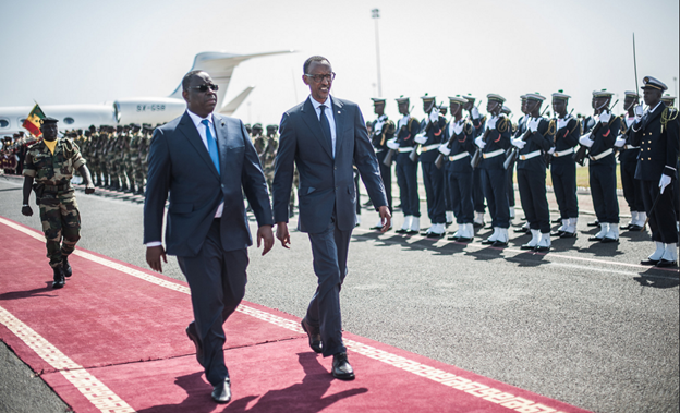 President Kagame received by Senegalese President, Macky Sall