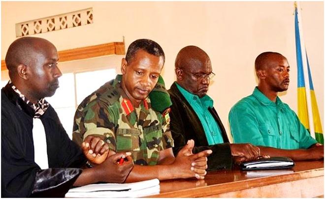 Col Tom Byabagamba, Brig Gen (Rtd) Frank Rusagara and Sgt (Rtd) François Kabayiza in court