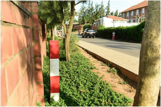 Demarcation of BRT in Kacyiru