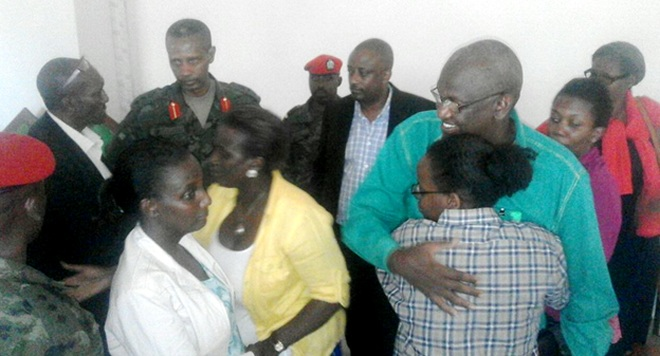 Moment after the long awaited ruling at the Military High court /Photo-Roger Rutindukanamurego