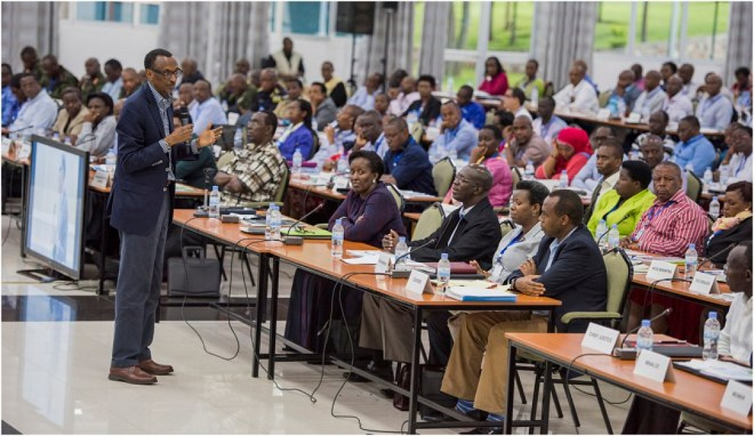 President Paul Kagame at the 13th National Leadership Retreat in Gatsibo district