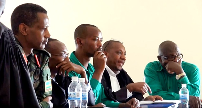 The accused in a previous court session before the verdict