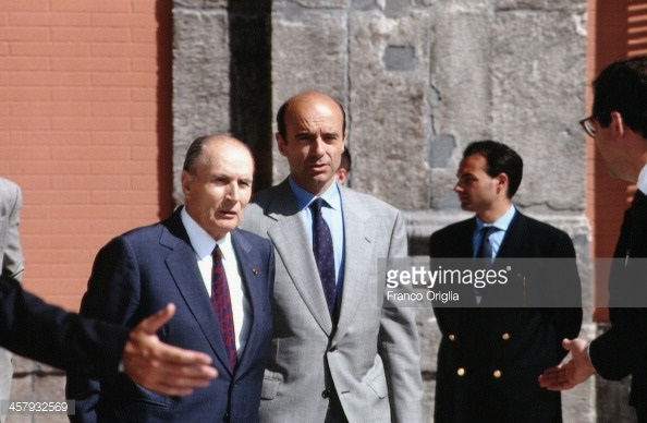 François Mitterrand and Alain Juppé back in the years of their government in power