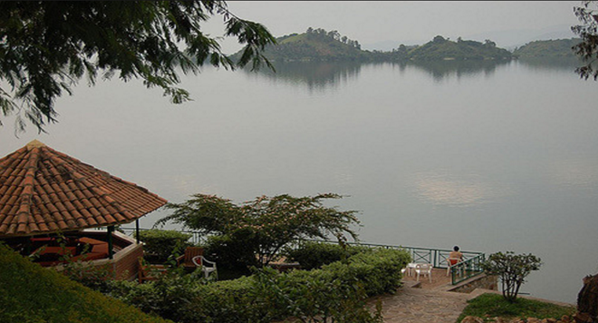 A magnificent view of lake Kivu from a guesthouse