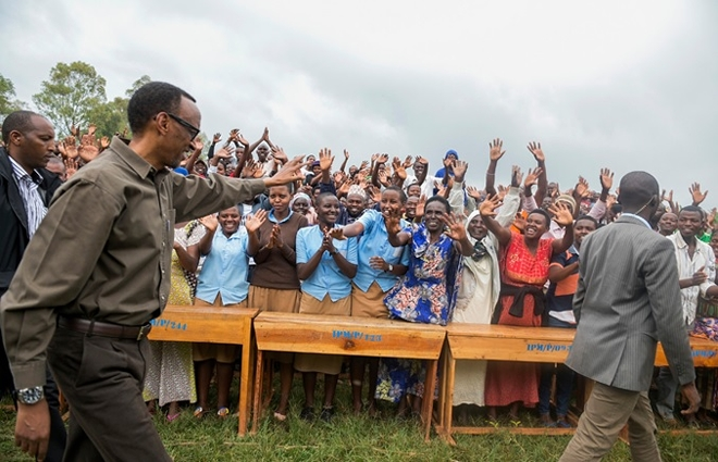 President Kagame in Kayonza district for Community work-Umuganda