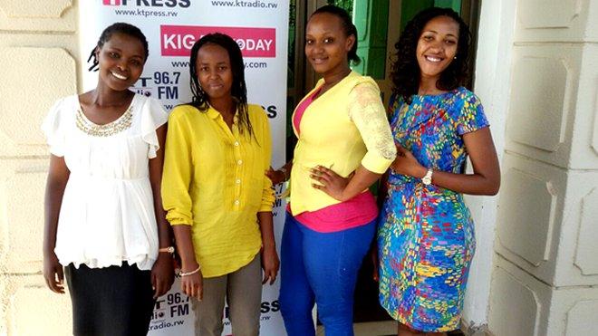 MsGeek Finalists (L-R): Rosine Mwiseneza Ange Uwambajimana, Faridah Umutoni and Merab TWAHIRWA, Girls In ICT - Member