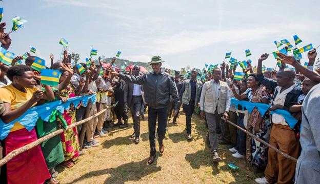 President Kagame in Karongi district
