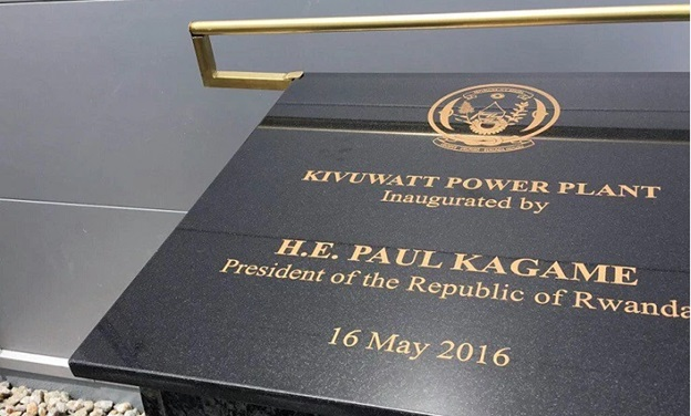 The official launch of KivuWatt power plant