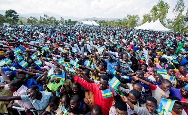 Residents of Karongi district meeting President Kagame