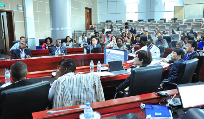 World City Planning Experts at a meeting in Kigali