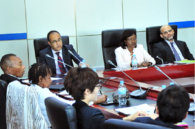 Kigali city Mayor (in white) and other experts at a Metrolab forum on Wednesday