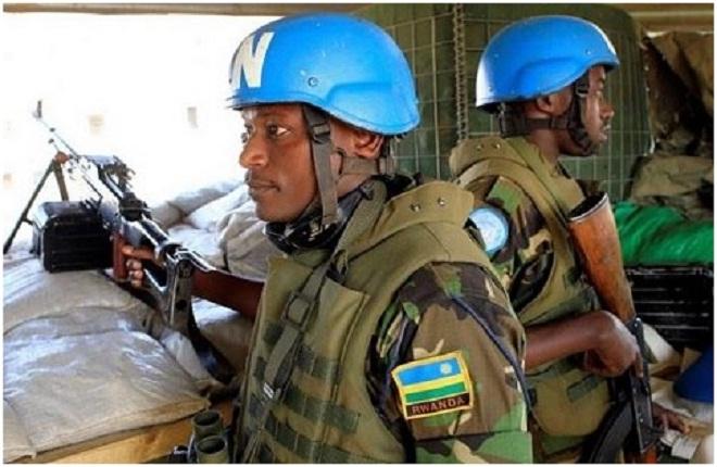 Rwandan troops serving under a UN Peace Keeping mission