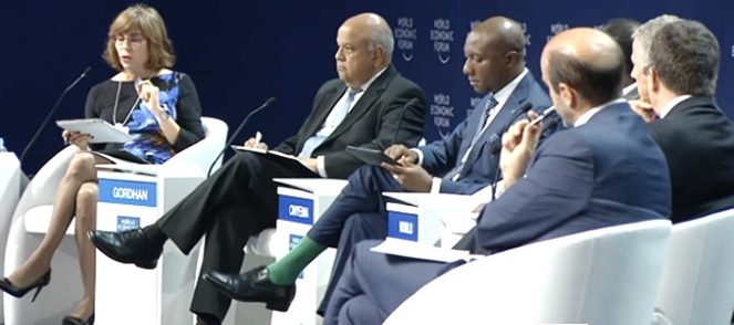 Discussants at the World Economic Forum on Africa