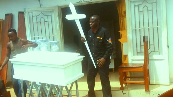 He Nearly Kissed Death But Now Makes Coffins