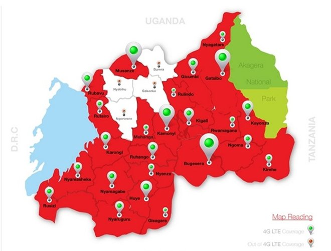 More than 62% of Rwanda's teritory can now access 4G LTE connectivity. oRn plans to have 90% of the country covered by end of 2017.