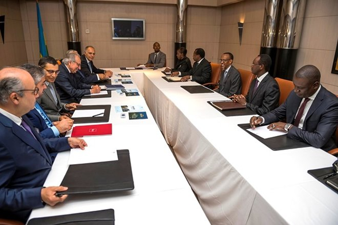 President Kagame meets with Moroccan business leaders in Casablanca June 21, 2016 – on last day of two day trip