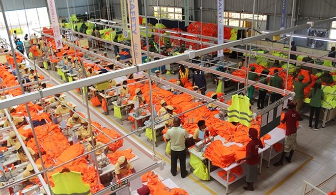 Workers at C&H Garments Ltd Rwanda