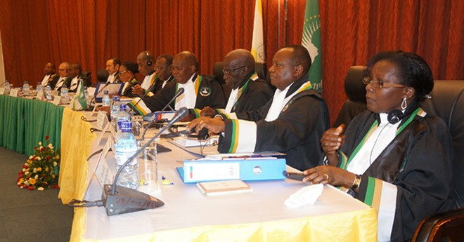 Judges at the African Court of Human and People's rights court