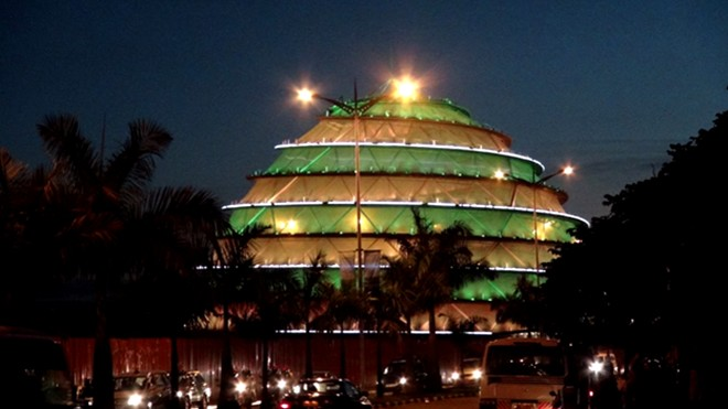 Kigali Convention center at night