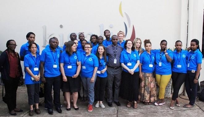 Delegation of US Students at the Kigali Genocide Memorial