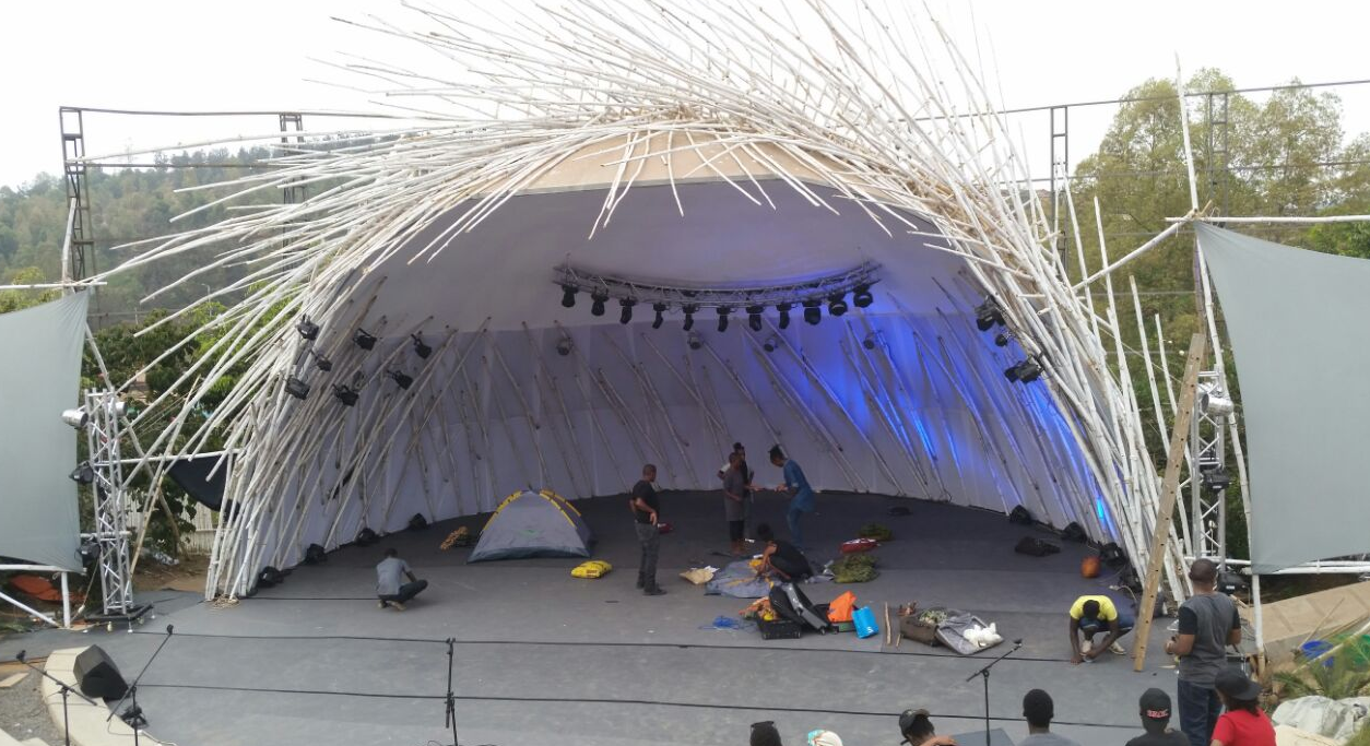 The artistic Amphitheatre which will host Ubumuntu Arts Festival performances