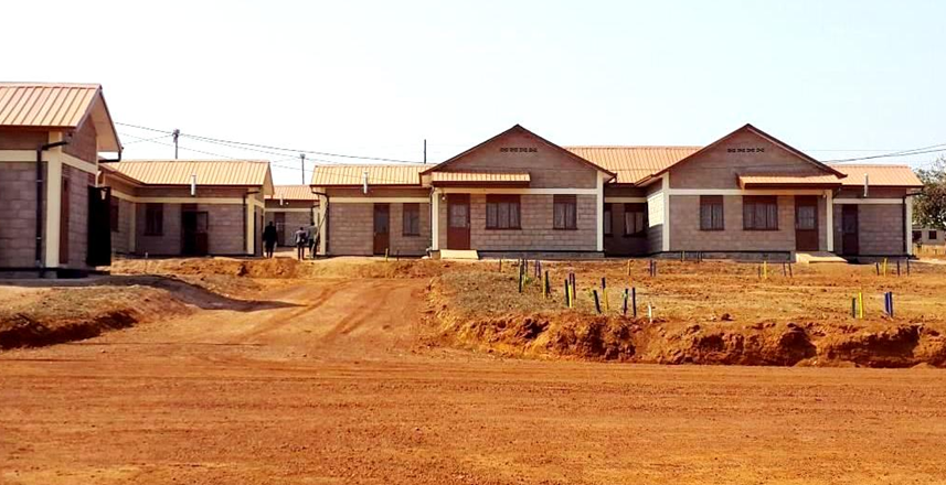 New houses that Mazane islanders will occupy on mainland