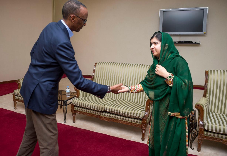 Malala meets President Kagame at his office