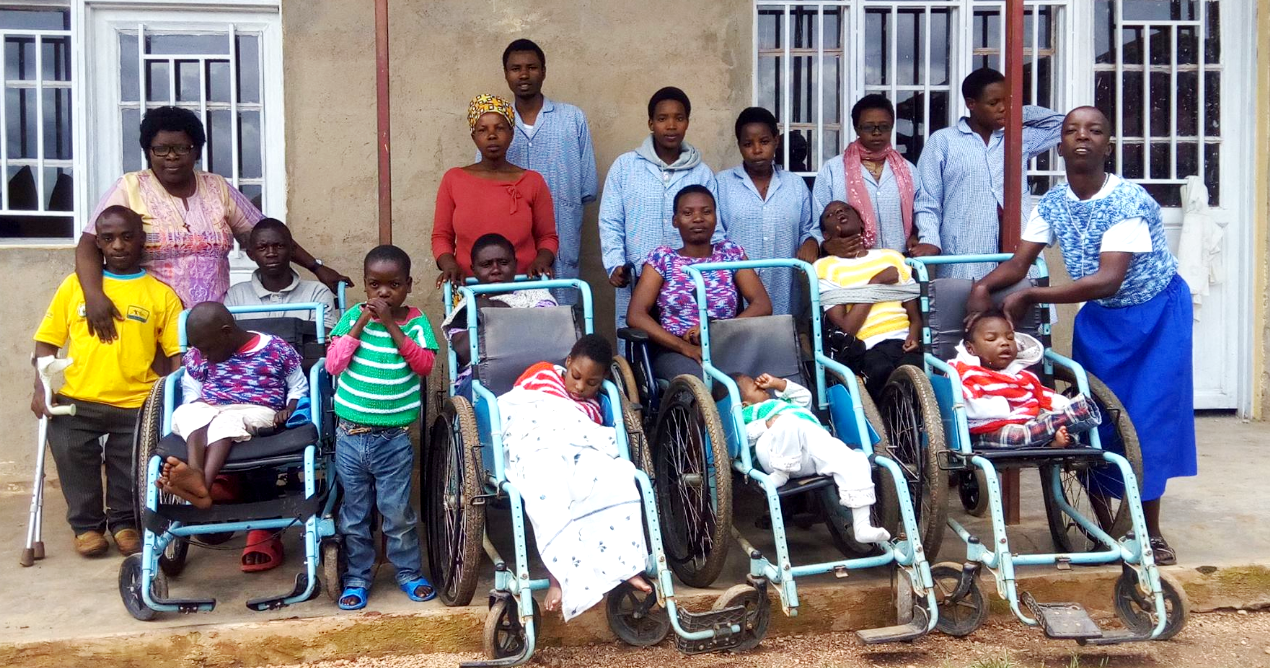 Some of the orphans at a care center under Handicap Rehabilitation for Development (HRD)