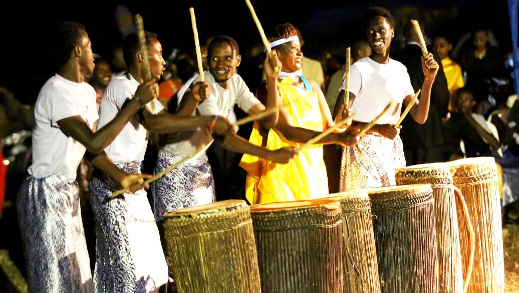 The rhythmic drumming