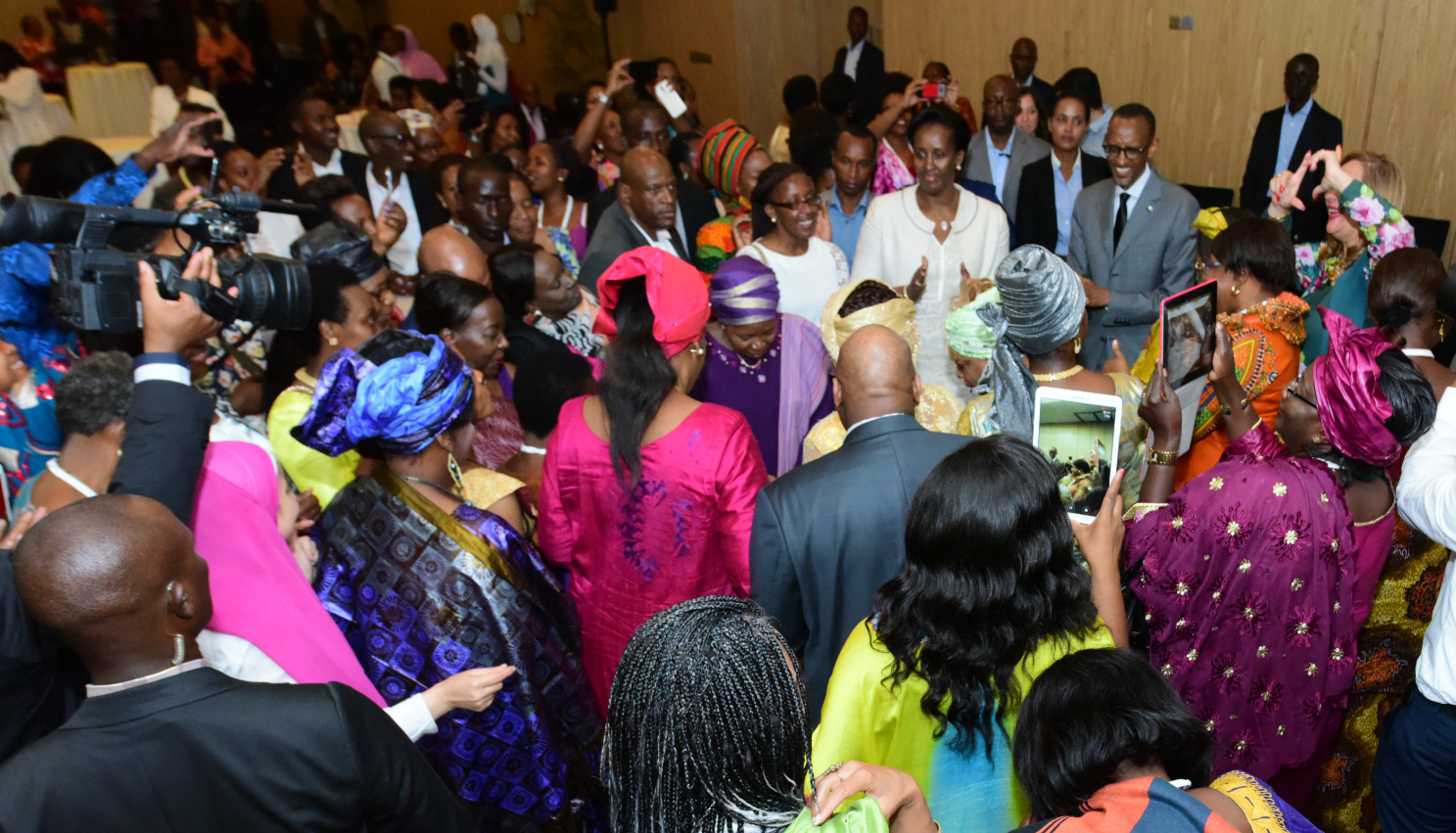 The event was attended by dozens of guests at Marriott Hotel, Kigali