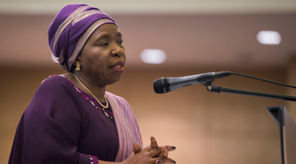 The Chairperson of the African Union Commission, Dr. Nkosazana Dlamini Zuma