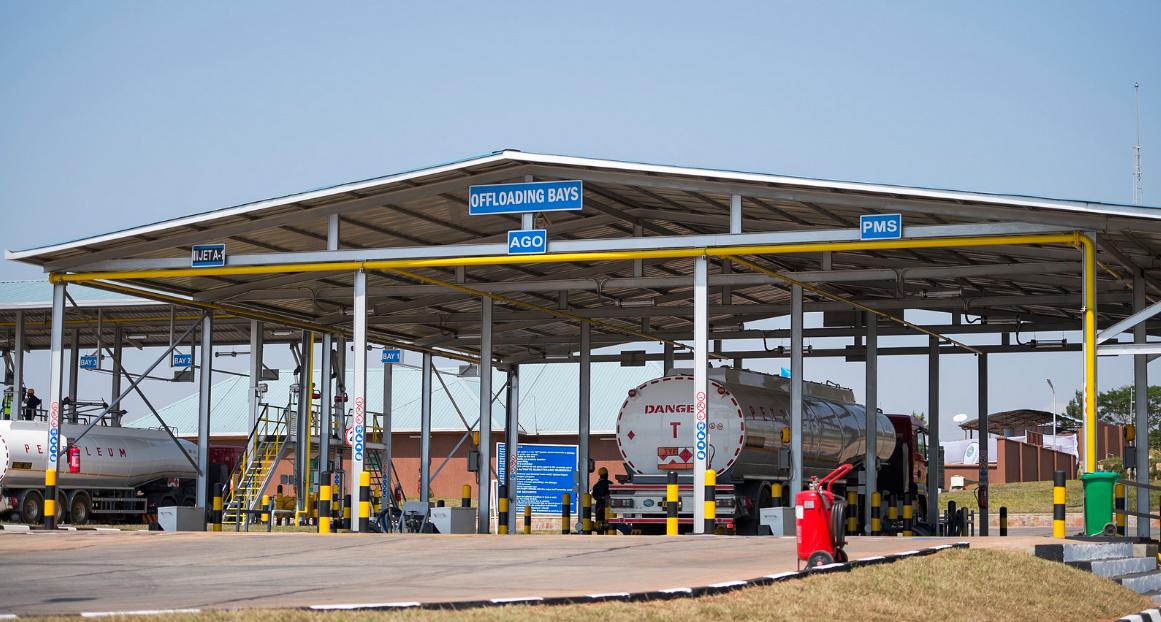 A Tanker loading at a New Depot in Rwanda.